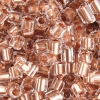 2-cut Beads Extra Size 9 Crystal Copper Lined